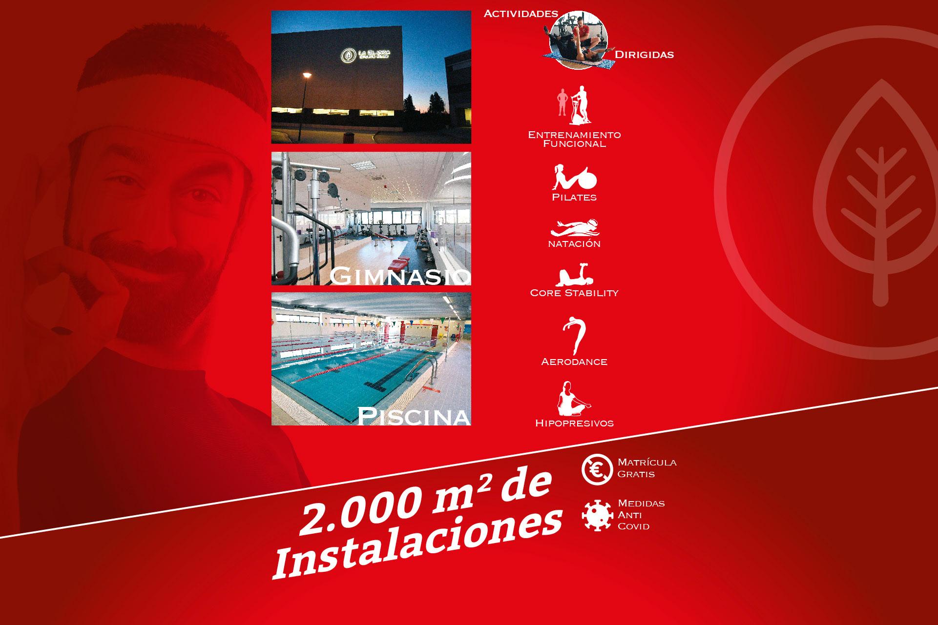 La Blanca Sports Club Gimnasio Montecarmelo Madrid 2000 m instalaciones